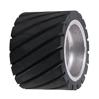 70mm Diameter Tooth-surface Bearings Belt Grinder Rubber Wheel Grinder