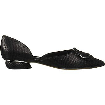 Franco Sarto Womens Reed Leather Pointed Toe Casual Slide Sandals