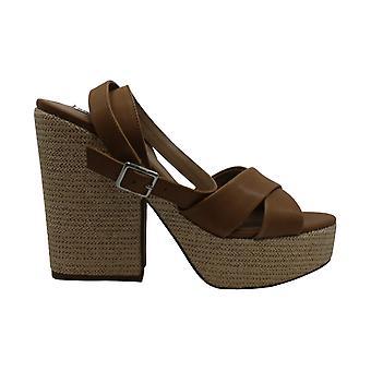 Steve Madden Frauen's Schuhe Jina Leder Peep Toe Casual Slingback Sandalen