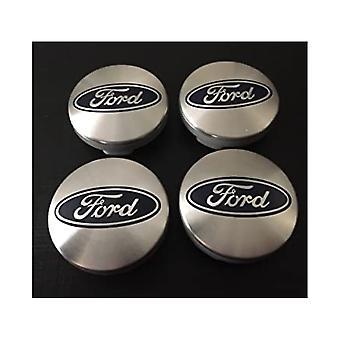 Silver Ford Wheel Center Caps Hub Badges 54mm 4 PCS For C-Max Galaxy Focus Mondeo Transit Ka Fiesta Kuga B-Max