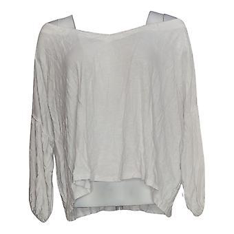 Rachel Hollis Ltd Women's Top Slub Peasant Style White A354060