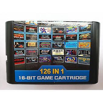 126 In 1 For Sega Megadrive Genesis Game Card With Super Marioed Batman & Robin