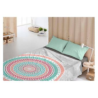 Top sheet Costura Yamine Coral/UK king size bed (230 x 270 cm)