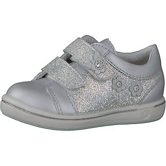 RICOSTA Double Velcro Trainer Silver Pearlescent Shoe