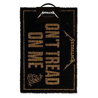 Metallica Dont Tread Op Me Door Mat