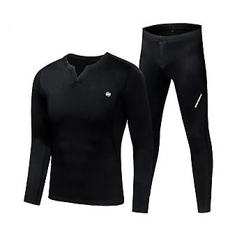 Fleece Long Johns Sports Thermal Underwear Sets Autunno Inverno