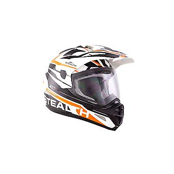 Stealth HD009 XC1 Adult Dual Sport Helmet - Orange