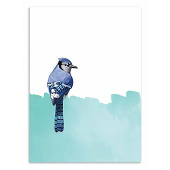 Art-Poster - The bird and the painting - Seven trees