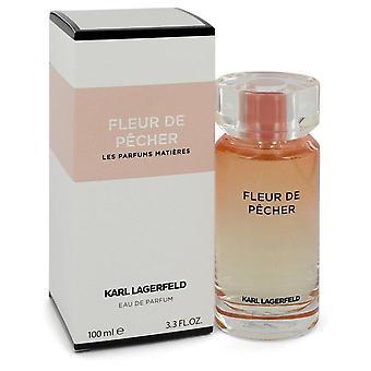 Fleur De Pecher Eau De Parfum Spray By Karl Lagerfeld 3.3 oz Eau De Parfum Spray