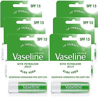 6x of 4gm, Vaseline Lip Therapy Petroleum Jelly Balm Sticks with Aloe vera
