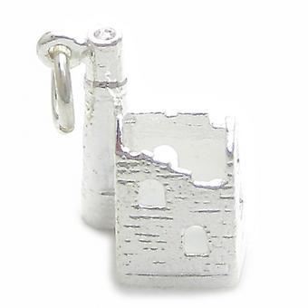 Old Run Down Tin Mine Sterling Silver Charm .925 X 1 Cornish Mijnen - 4952