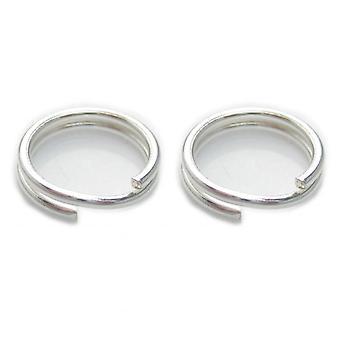 2 X 8mm Split Ringen Sterling Zilver .925 Charm Sleutelhangers Ringen - 6017