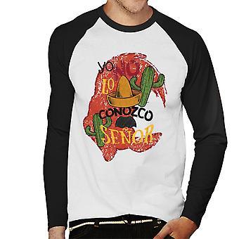 Woody Woodpecker Yo No Lo Conozco Senor Men's Baseball camiseta de manga larga
