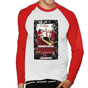 Shaun of the Dead Theatrical Poster Men's Baseball Long Sleeved T-Shirt