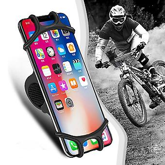 Udyr universal elastic wear-resistant silicone bicycle handlebar mobile phone holder stand for devices between 4.0-6.3 inch