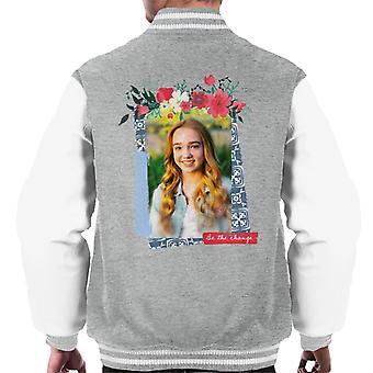 Holly Hobbie være ændringen Floral Border Men's Varsity Jacket