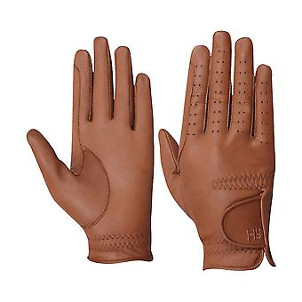Battles Hy5 Adults Leather Riding Gloves - Light Brown