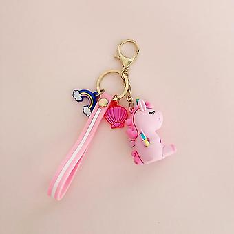 Cartoon Unicorn, Small Pendant, Plush, Keyring,, Kids, Bag Decoration, Silicon