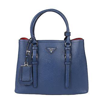 Prada Double Tote Leather Bag 1BG883 F0021 | Inchiostro/Ink Blue | Small