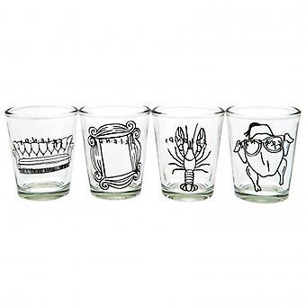 Friends 4pk Shot Glass Set