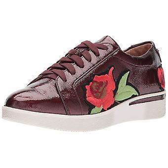 Gentle Souls Women's Haddie Rose Low Wedge Flower Embroidery Sneaker