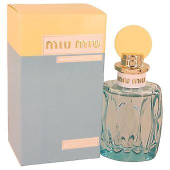 Miu Miu l ' Eau Bleue Eau De Parfum Spray por Miu Miu 3.4 oz Eau De Parfum Spray