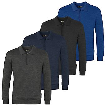 Island Green Mens 2021 IGKNT2062 Polo Long Sleeve Knit Sweater