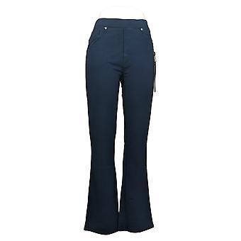 DG2 Af Diane Gilman Women's Pant Pull-On Stretch Ponte Boot-Cut Blue 708528