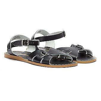 Salt Water Classic Womens Black Sandals