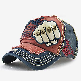 Fist baseball hat men's and women's letter willow stud casual cap