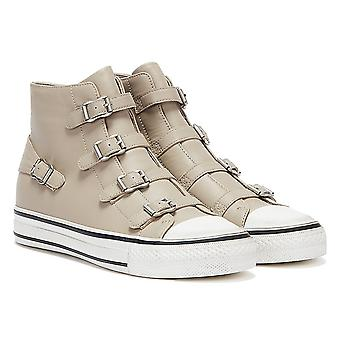 Ash Virgin Leather Womens Pearl Taupe Trainers