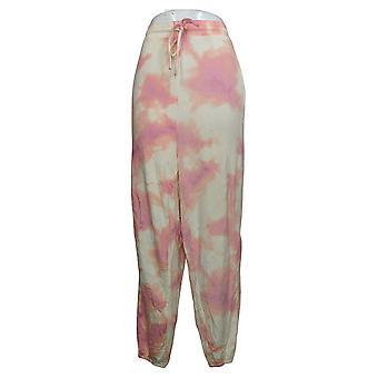 All Worthy Hunter McGrady Women's Pants Plus Regular Jogger Pink A387048