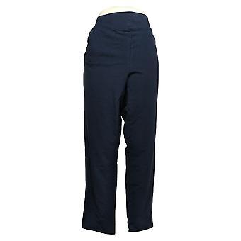Denim & Co. Women's Pants Tall Terry V-Yoke Pull-On Ankle Blue A391934