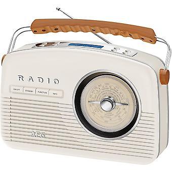 HanFei NDR 4156 Retro-Digitalradio DAB+ 20 Senderspeicher Netz-und Batteriebetrieb Creme