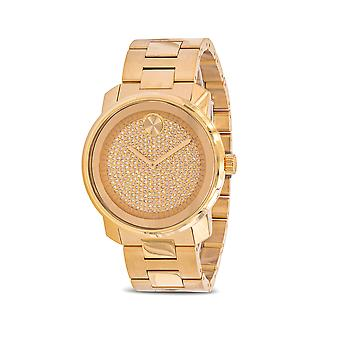 Movado Bold Yellow Gold Ion Stainless Steel Mens Watch 3600665