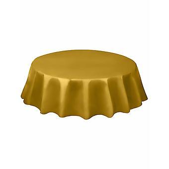 Rond goud kunststof tafelkleed 213 cm