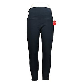 Spanx Women's Leggings Petite Ankle Length Ponte Hem Slit Blue A369379