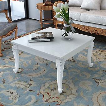 vidaXL table basse 80x80x42 cm brillant blanc