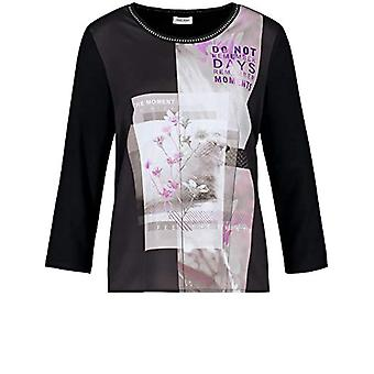 Gerry Weber T-Shirt 3/4 Arm, Black Print, 46 Woman