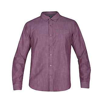 Hurley One & Only 3.0 Long Sleeve Shirt in Team Red