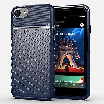 Obudowa z włókna węglowego Tpu do iphone'a se2 niebieskiego mfkj-2061