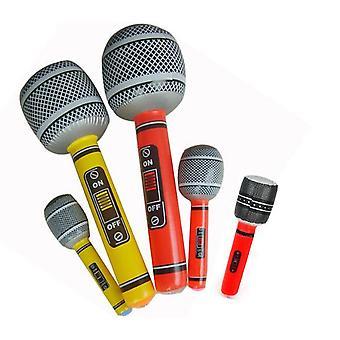Hauska puhallettava mikrofonilelele räjäyttää laulavan syntymäpäivädiskojuhlan ilmapallon