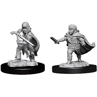 D&D Nolzurs underbara omålade miniatyrer (W13) Halvering Rogue Male