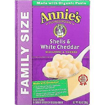 Annie's Homegrown Mac &Chs Shell Wht Chdr, Cas de 6 X 10,5 Oz