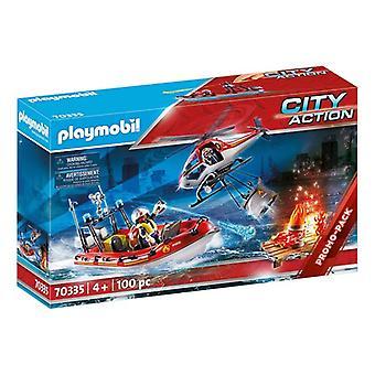 プレイセットシティアクションレスキューミッションプレイモービル70335(100個)