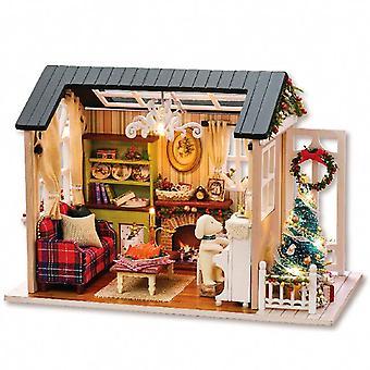 Cutebee casa de muñecas en miniatura casa de muñecas con muebles de madera casa juguetes casa para niños regalo de cumpleaños z007