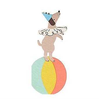 Meri Meri Zirkus Hund Papier Party Servietten x 16