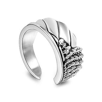 Fashion Personality Trend Angel Wing Rings Domineering Carved Titanium Steel Ring Sa793