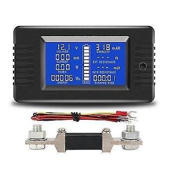 LCD Display Digital Current Voltage Solar Po-wer Meter Multimeter Ammeter Voltmeter Batt-ery Monitor