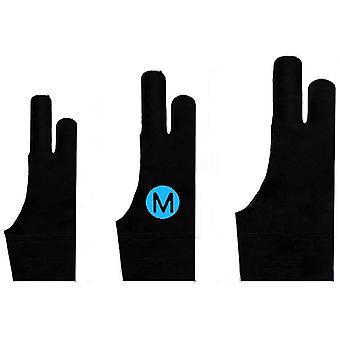Elastisch Antifouling Handschuh, Zwei-Finger-Handschuh für Grafiktablett Light Box Tracing Light